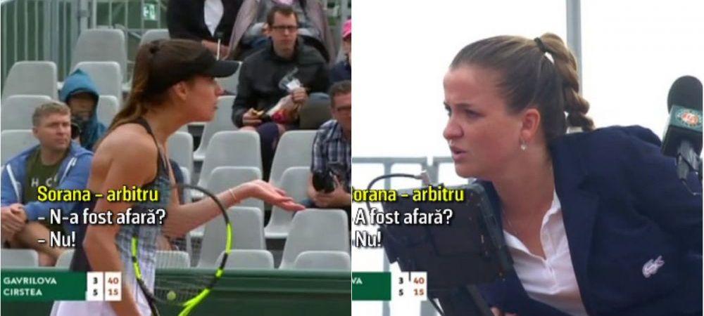"Sorana Cirstea, ELIMINARE cu scandal de la Roland Garros 2018! A RABUFNIT la adresa arbitrei: ""Esti ok?"" FOTO"