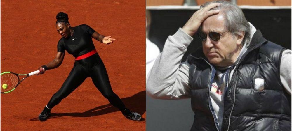 """Reactia lui Ilie Nastase dupa ce a vazut-o pe Serena Williams la Roland Garros in echipamentul de """"Catwoman"""""""
