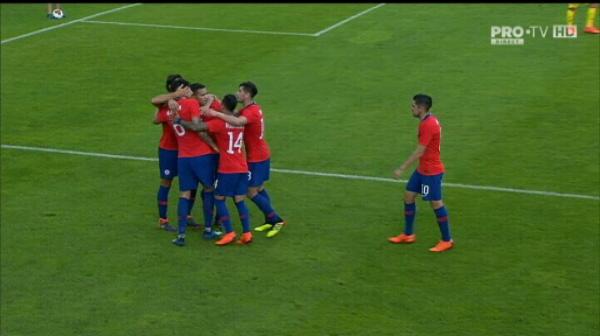 Romania 1-1 Chile. Maripan egaleaza dupa elimiare