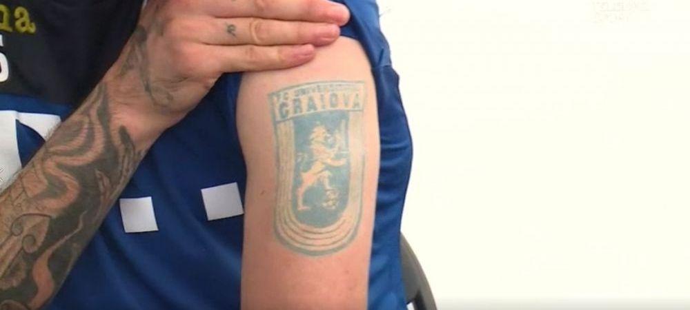 "Fabulos! Fotbalistul de la nationala care nu a jucat niciodata in Liga I, dar si-a tatuat emblema Craiovei: ""Sper sa joc intr-un viitor acolo"""