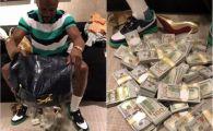 """Vanzator: """"Card sau cash?"""". Incredibil! Mayweather s-a dus la cumparaturi cu o geanta de bani si a varsat teancurile in magazin! Ce si-a luat"""