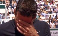Del Potro, in lacrimi la Roland Garros. A plans ca un copil la finalul meciului cu Cilic | VIDEO