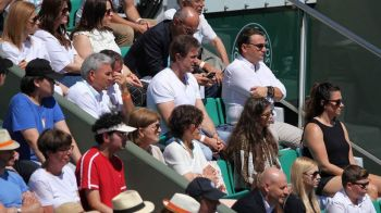 Romania de AUR! Gica Hagi si Gica Popescu, suporterii Simonei Halep in tribune la Roland Garros