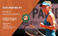 Finala Roland Garros se vede la PRO TV, sambata de la 15:00, cu Andreea Esca, CTP si Mihai Mironica