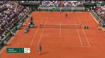 Mingile care AU INNEBUNIT fanii tenisului! Simona reuseste lovituri incredibile in finala cu Stephens | VIDEO