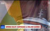 Momente URIASE: Imnul Romaniei a facut LINISTE pe arena de la Roland Garros, Halep a izbucnit in lacrimi! VIDEO