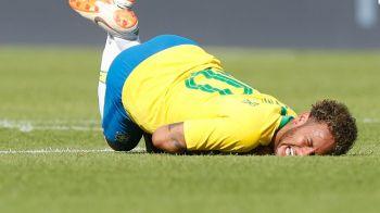 EMOTII cu Neymar! Starul brazilian s-a PRABUSIT pe teren in meciul cu Austria: ce s-a intamplat