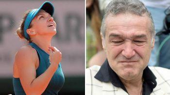 """Becali, IN GENUNCHI la victoria Simonei: """"Ma rugam sa castige mingea ca sa pot respira!"""" Cum a trait victoria istorica de la Roland Garros! VIDEO"""