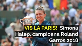 MERCI, SIMONA | Filmul unui turneu de neuitat pe Romania si Simona Halep: campioana Roland Garros 2018. VIDEO