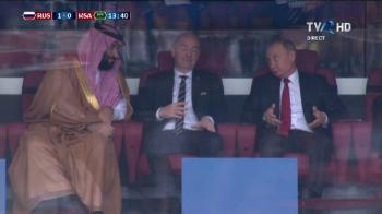 Imagini MONDIALE! Ce GEST a facut Putin catre seicul Arabiei Saudite dupa deschiderea de scor de la Rusia - Arabia Saudita! FOTO