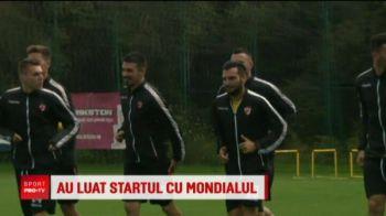 N-au stat plouati in fata televizoarelor :) Dinamovistii au urmarit meciul de deschidere al Mondialului datorita ploii: Bratu programase antrenament