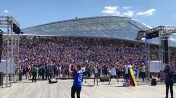 Argentinienii il au pe Messi, dar islandezii au o ARMATA! Imagini fabuloase: mii de vikingi facand celebrul salut in Rusia. VIDEO