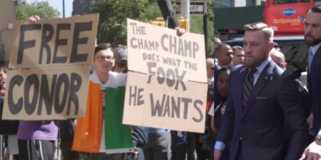 Acest tanar le spunea tuturor ca  McGregor face ce vor muschii lui  cand irlandezul a ajuns la tribuna si l-a vazut! Cum a reactionat luptatorul
