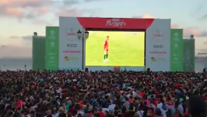 VIDEO FANTASTIC! Ce s-a intamplat in piata din Lisabona in momentul golului FABULOS al lui Ronaldo