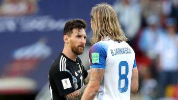 Cine e islandezul care a pus mana pe tricoul lui Messi dupa meciul de la Mondial! A costat in toata cariera lui cat ia Messi intr-o luna