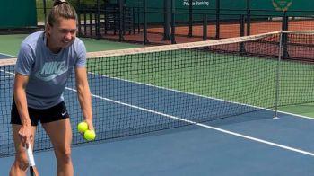 """""""Prima lectie de tenis!"""" Fotografia cu care Simona Halep a RUPT internetul! Ce a facut azi pe teren. FOTO"""