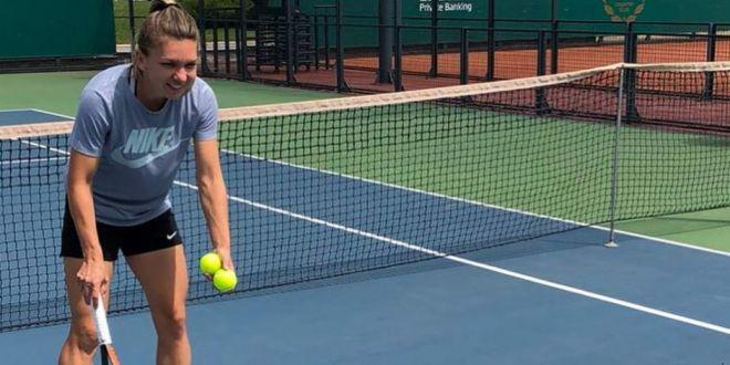 Prima lectie de tenis!  Fotografia cu care Simona Halep a RUPT internetul! Ce a facut azi pe teren. FOTO