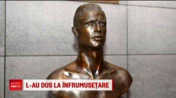 Ronaldo a scapat de uratenia pamantului :) Statuia din Madeira a fost schimbat dupa hattrick-ul reusit de Cristiano la Mondial