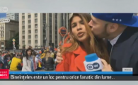 Ce a patit o jurnalista din Columbia in timp ce transmitea in direct de la Campionatul Mondial :) VIDEO