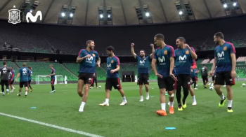 """Ce face Spania?"" Au gasit antidotul pentru Ronaldo? Ce antrenament ciudat fac spaniolii. VIDEO"