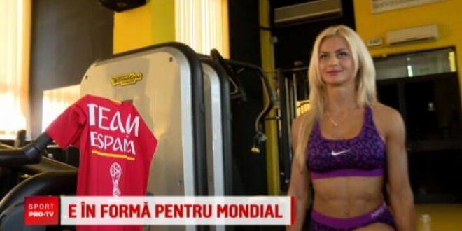 E in forma pentru Mondial! Miss bikini fitness e din Targu Mures si tine cu Spania la Cupa Mondiala
