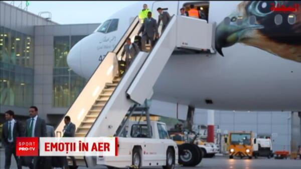 Aproape de o tragedie: avionul Arabiei Saudite a aterizat in flacari