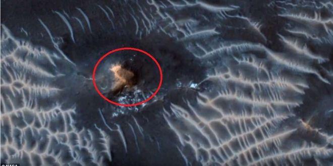 E oficial! Ce spun cercetatorii despre formatiunea ciudata, in forma de OZN, observata pe Marte