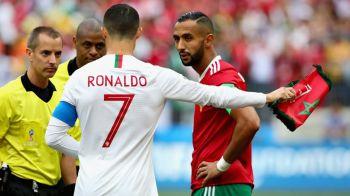 """Arbitrul i-a cerut tricoul lui Ronaldo IN TIMPUL meciului! Marocanii, furiosi: """"E Mondial aici, nu circ!"""""""
