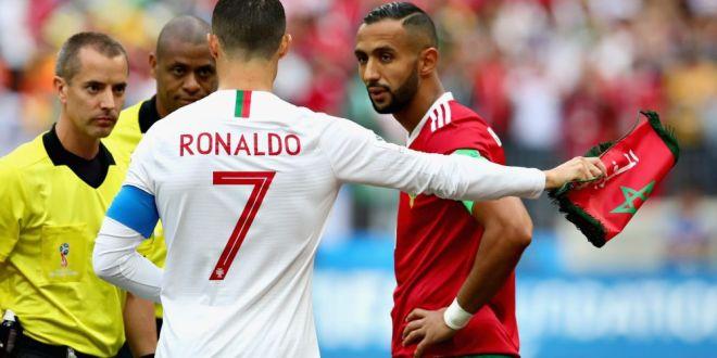 Arbitrul i-a cerut tricoul lui Ronaldo IN TIMPUL meciului! Marocanii, furiosi:  E Mondial aici, nu circ!