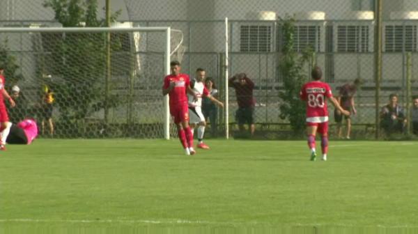 GOOOL FCSB   Florinel Coman deschide scorul in meciul cu CS Cornu, din cantonament