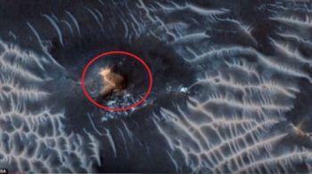 E oficial! Ce spun cercetatorii despre formatiunea ciudata, ca un OZN, observata pe Marte