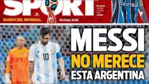 """O lume intreaga socata de rusinea Argentinei: """"Messi, umilinta istorica!"""" / """"Nimeni nu ne mai salveaza!"""" Primele pagini ale ziarelor de sport"""