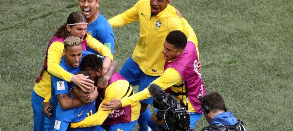 BRAZILIA 2-0 COSTA RICA   Brazilia, SALVATA in prelungiri de Coutinho! Neymar a spart gheata la ultima faza dupa ce a avut un penalty ANULAT de VAR!