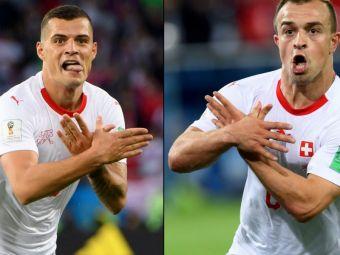 Ce inseamna gestul facut de Xhaka si Shaqiri la golurile Elvetiei! Cei doi pot fi AMENDATI de FIFA! FOTO