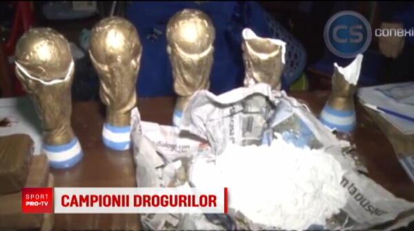 Droguri ascunse in replici ale trofeului Cupei Mondiale
