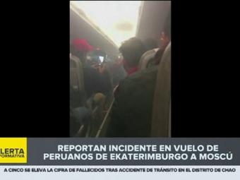Avionul nationalei PERU s-a umplut de FUM in timpul zborului! Imagini de GROAZA pentru jucatori din interior! VIDEO