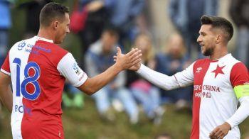 GOOOOOOOL BALUTA! Fostul atacant al Craiovei a marcat la primul meci la Slavia Praga! A avut nevoie de doar 6 minute pentru prima reusita
