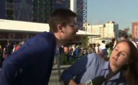 Agresata in timp ce transmitea live de la Cupa Mondiala! Imagini incredibile cu o jurnalista din Brazilia   VIDEO