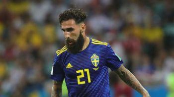 """DRAMA unui jucator suedez la Mondial: """"Mi-au amenintat copiii, cine face asa ceva?!"""" Totul a pornit de la un simplu fault"""
