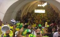 Brazilienii au facut HAOS la metroul din Moscova! Cum s-au bucurat dupa calificarea in optimi la Mondial. VIDEO