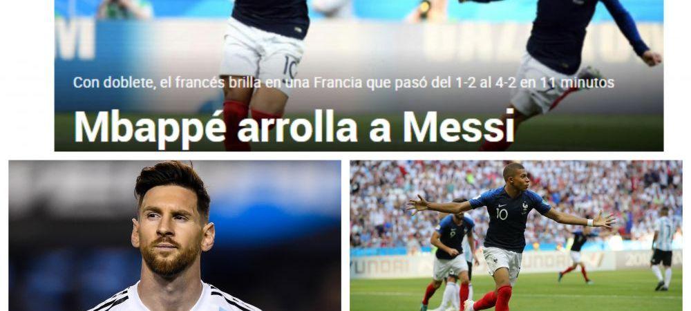 """Mbappe calca peste Messi"" | Reactiile presei internationale dupa victoria Frantei! Argentina isi face bagajele"