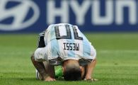 Imagini pentru istorie! Leo Messi, in genunchi la ultimul sau Mondial! GALERIE FOTO cu reactiile sale