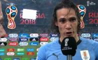 """Matadorul Cavani, in lacrimi dupa ce l-a scos pe Ronaldo de la Mondial! Reactie fabuloasa dupa meci: """"Va dati seama ce e in Uruguay?!"""""""