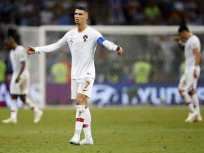 Cristiano Ronaldo, DEZLANTUIT! Ce nu s-a vazut la TV in momentul in care a primit cartonasul galben | GALERIE FOTO
