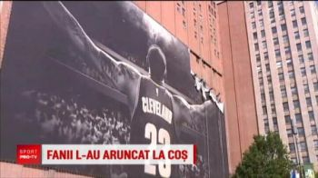 L-au aruncat la cos :) Fanii au innebunit dupa ce LeBron i-a tradat: gestul facut de suporteri