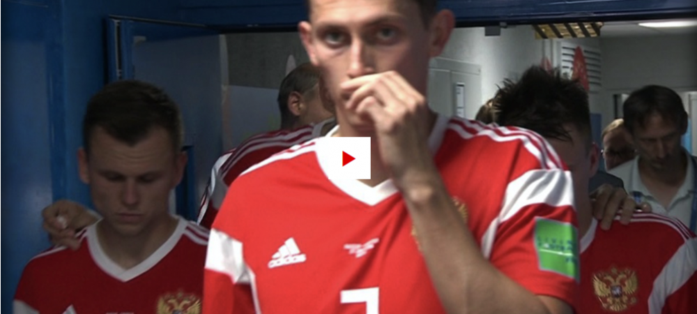 Ce au TRAS PE NAS la pauza?! Moment incredibil surprins de camere la meciul Rusiei. Ce s-a intamplat