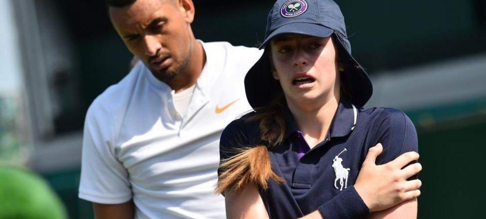 """Kyrgios, faza zilei la Wimbledon 2018! A servit cu peste 200 KM/H direct intr-un copil de mingi: """"Si eu plangeam in locul ei!"""""""