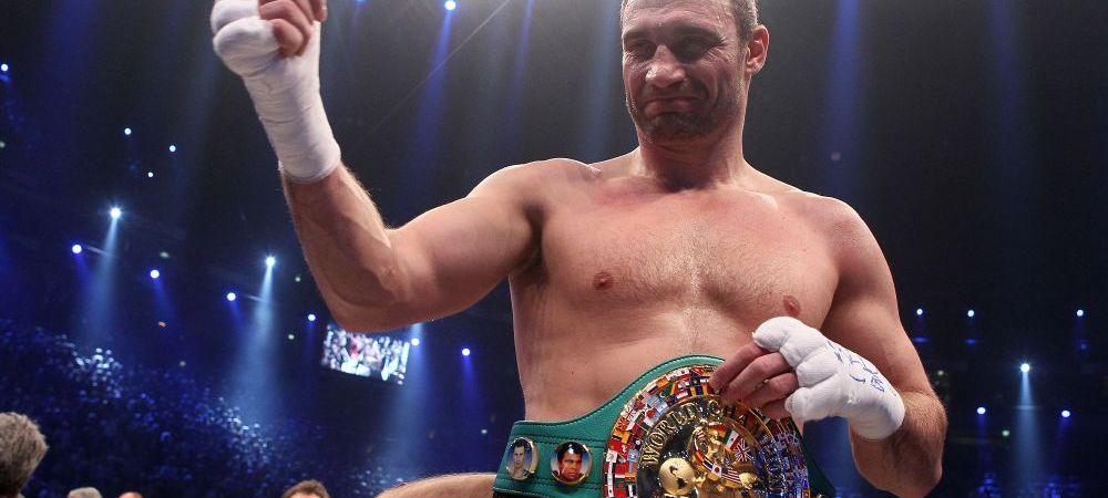 CE NEBUNIE! Vitali Klitschko, ajuns intre timp primarul orasului Kiev, revine in ring in septembrie