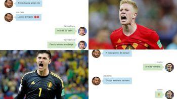 """""""Felicitari, mi-ai fu**t tara"""". Belgianul care si-a enervat conationalii! Ce SMS-uri le-a trimis lui Courtois si De Bruyne"""