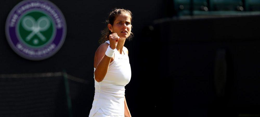 "Wimbledon 2018. Scene emotionante dupa calificarea Juliei Georges in semifinale: ""Imi pare rau ca te-am batut!"""